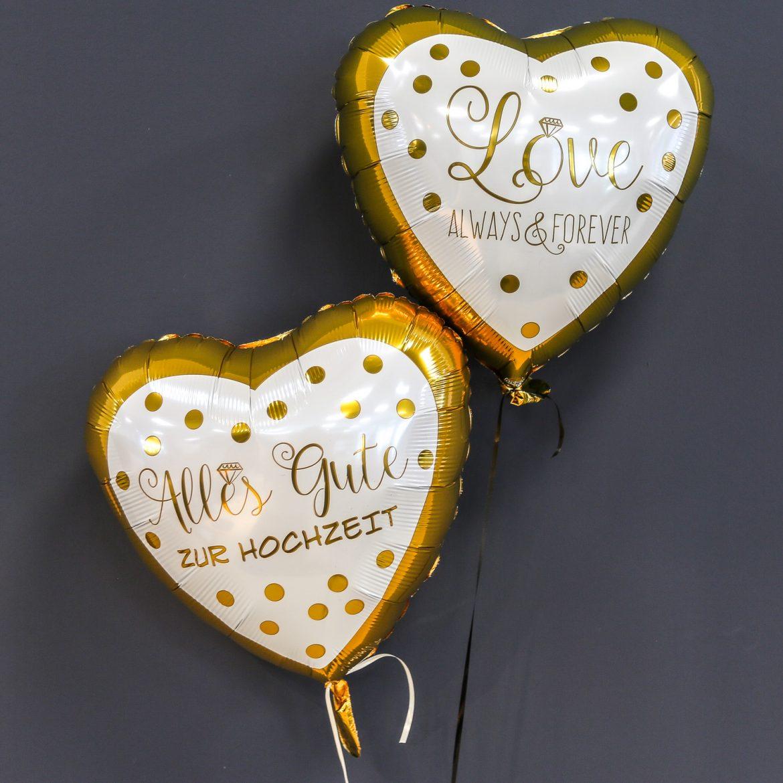 Ballons zur Hochzeit - Herzballons je € 5,50 1