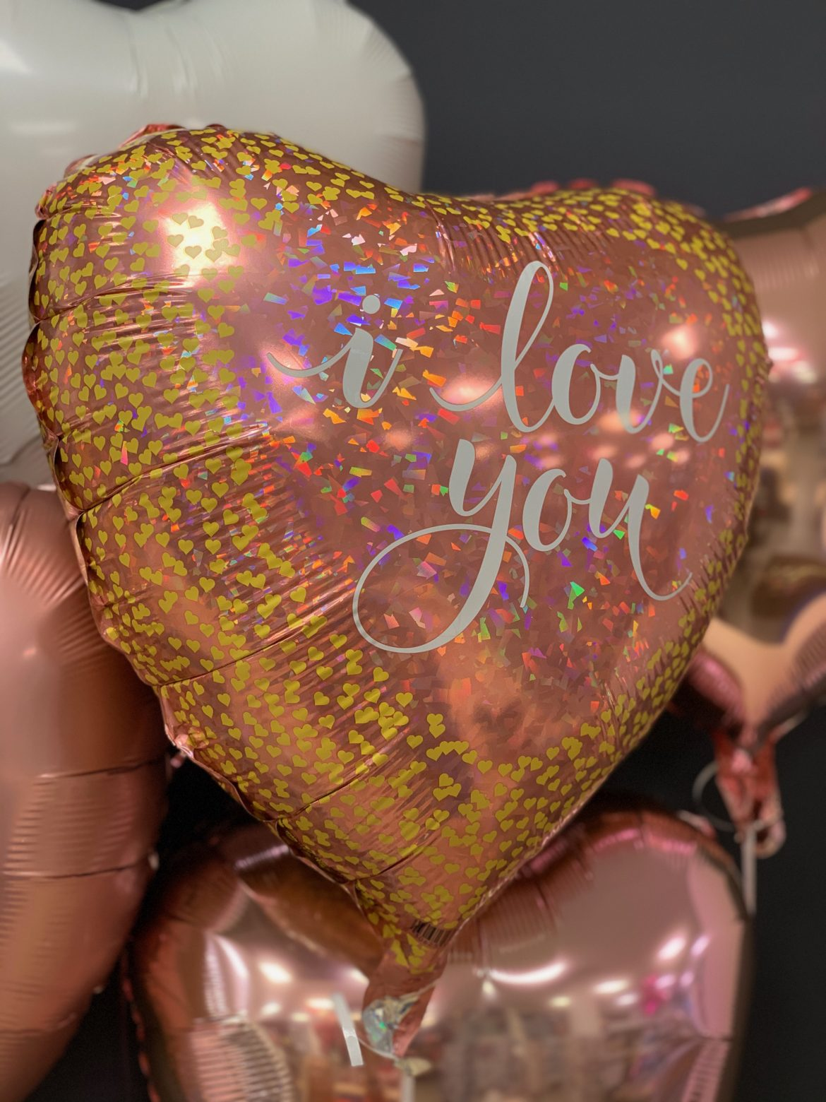 I Love you Ballon gold