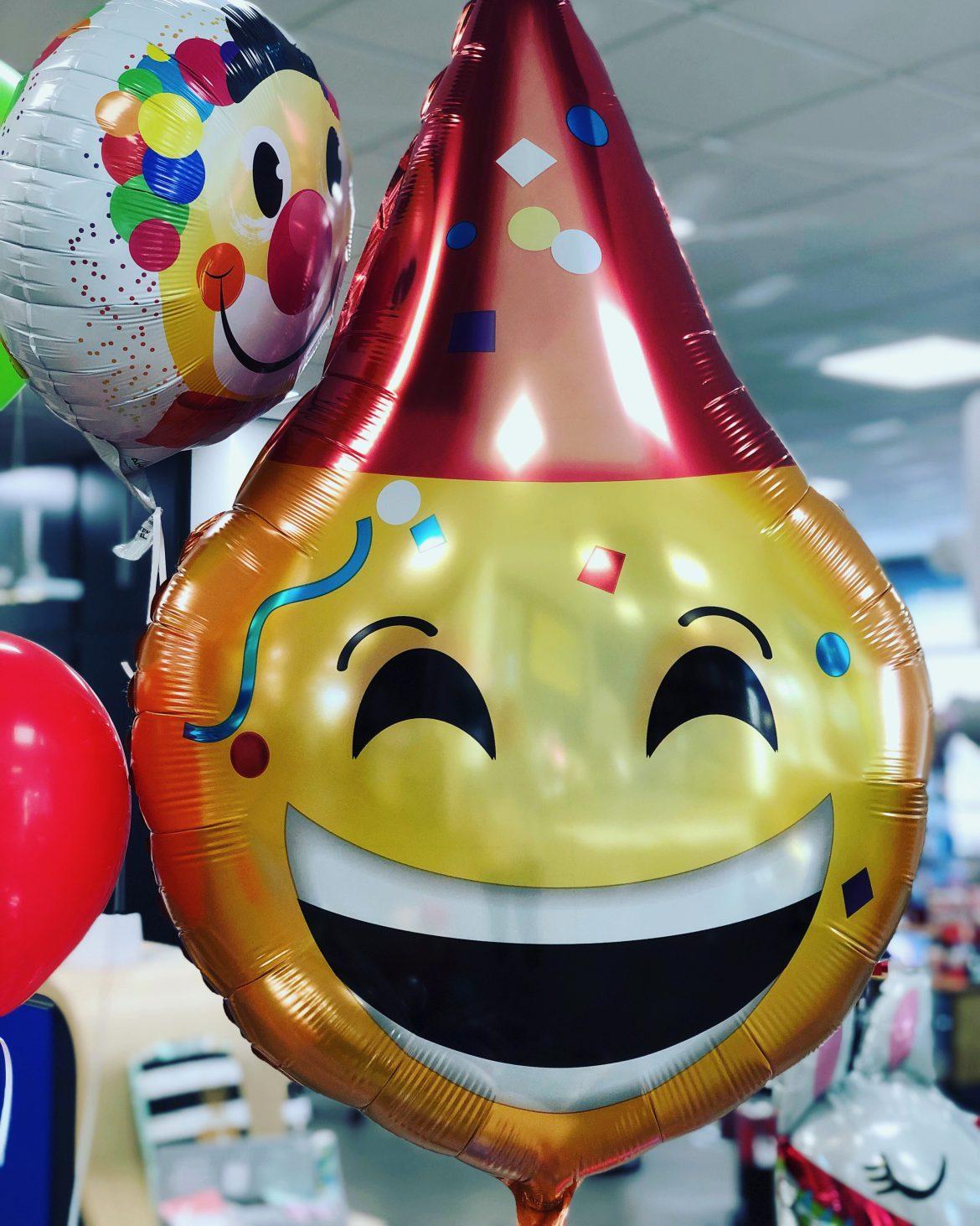 Heliumballon lachender Smiley