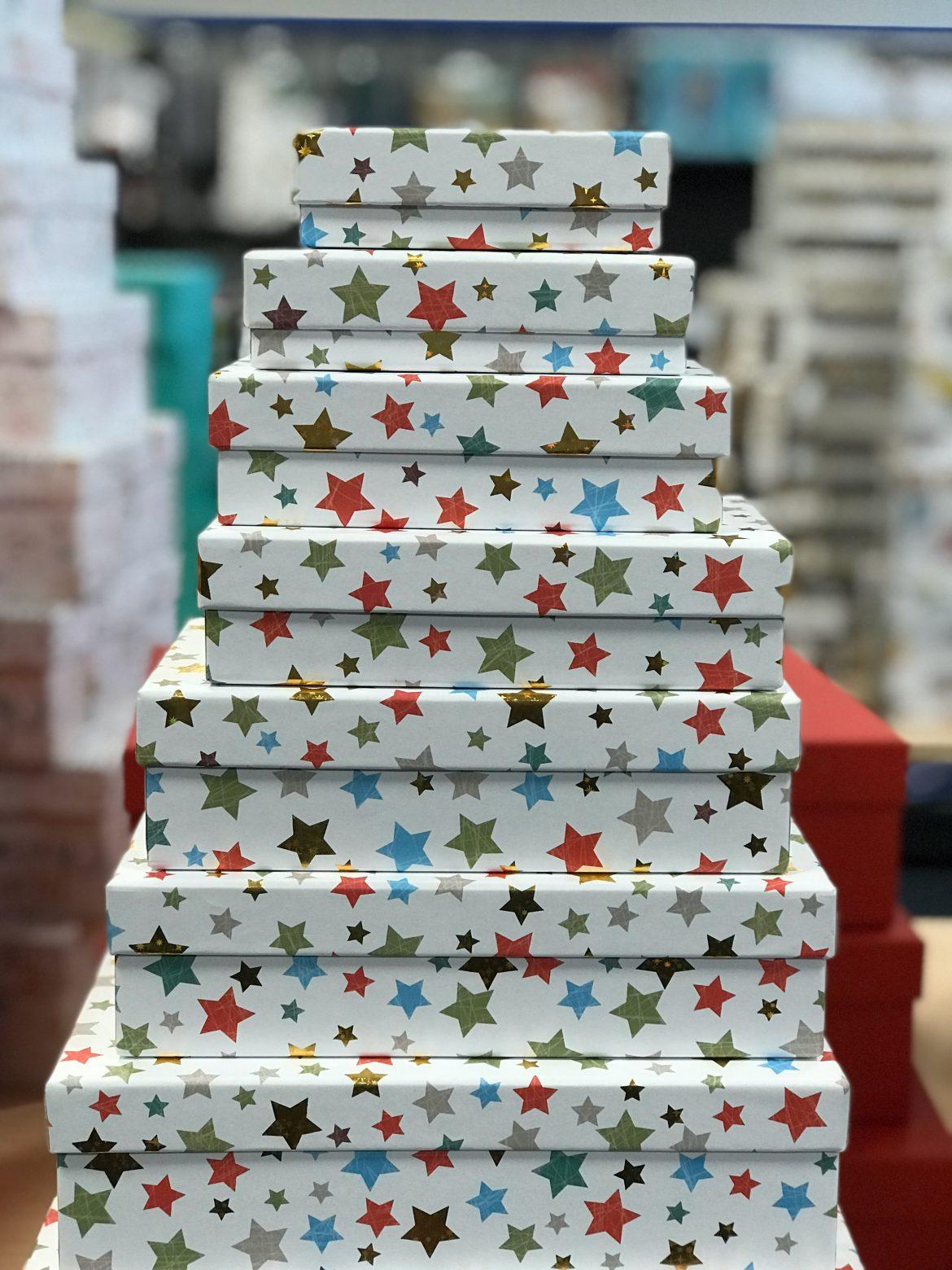Weihnachten Schachteln