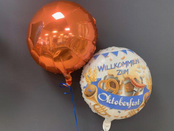 Heliumballon Willlkommen zum Oktoberfest
