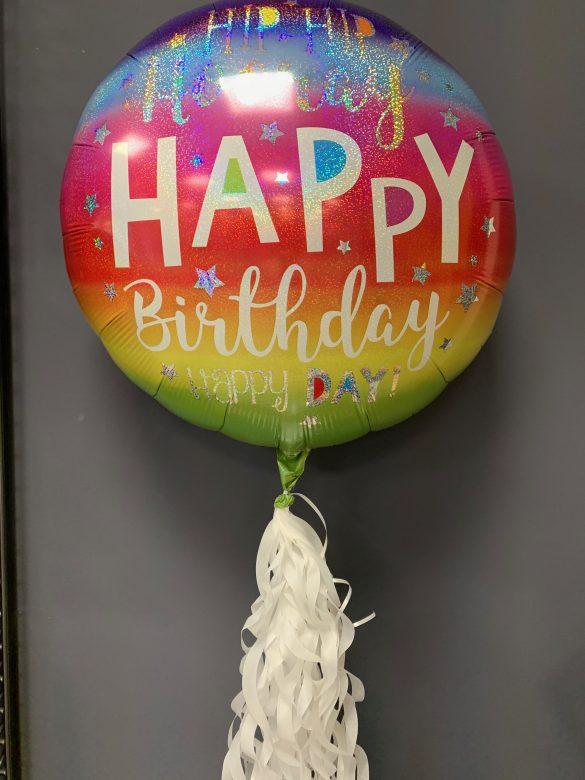Happy Birthday Ballon bunt