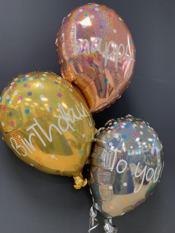 Happy Birthday Bouquet 3 Ballons