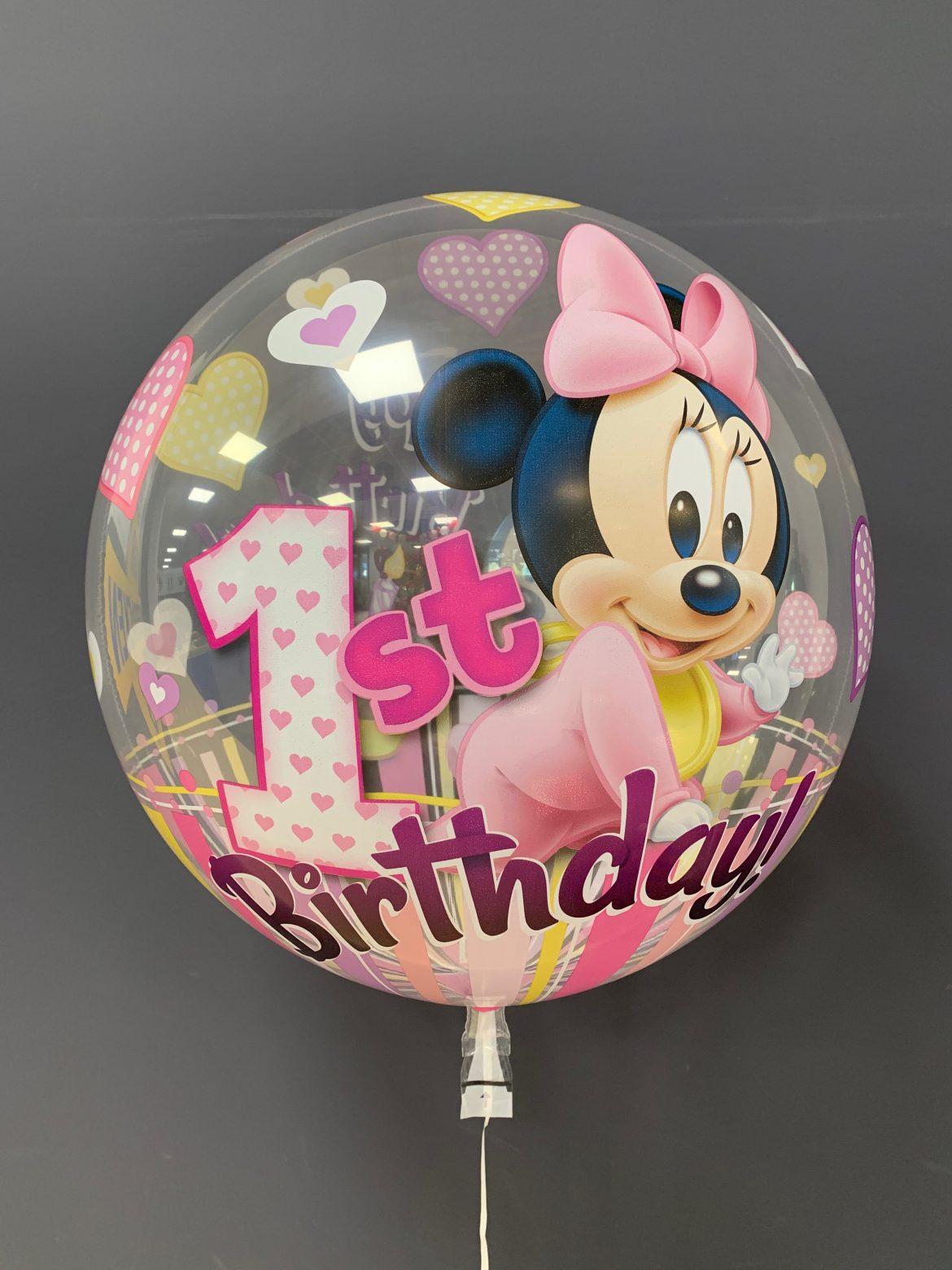 1st Birthsday Minnie-Maus Heliumballon