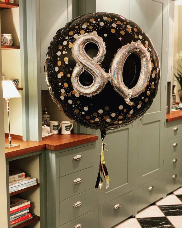 Geburtstagsballon 80 Folienballon