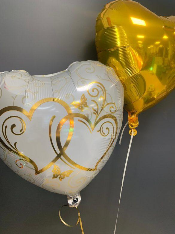 Ballon mit goldenen Herzen 71