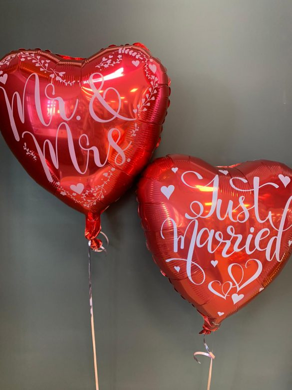Just Married rote Ballons jeweils € 5,90 373