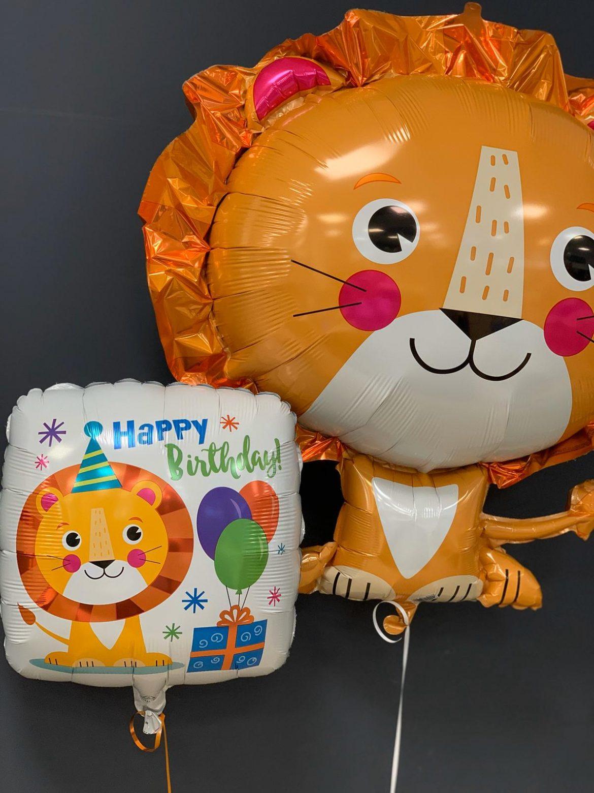 Löwe Folienballon €6,90<br />Happy Birthday €5,50 1