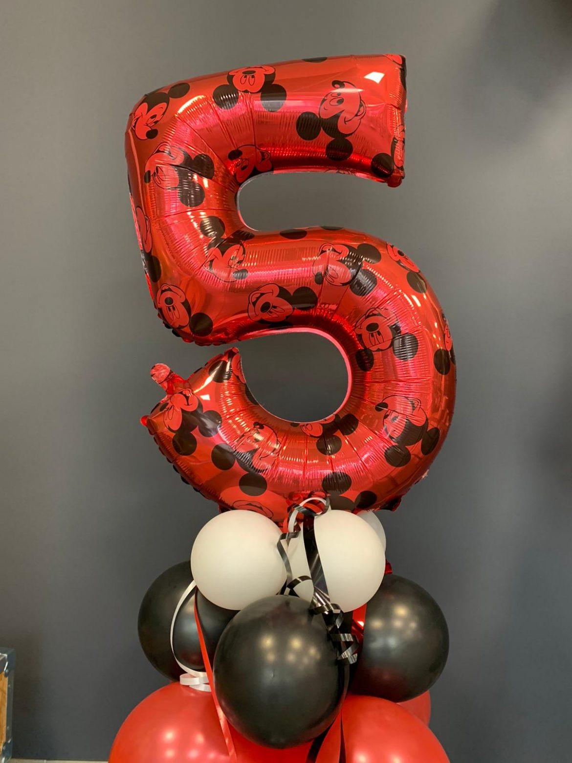 Ballon Zahl 5 mit Mickey Maus € 9,90 1