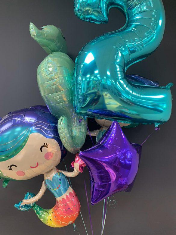 Zahl 2 mit Heliumballons € 9,90 und Meerjungfrau € 7,90 39