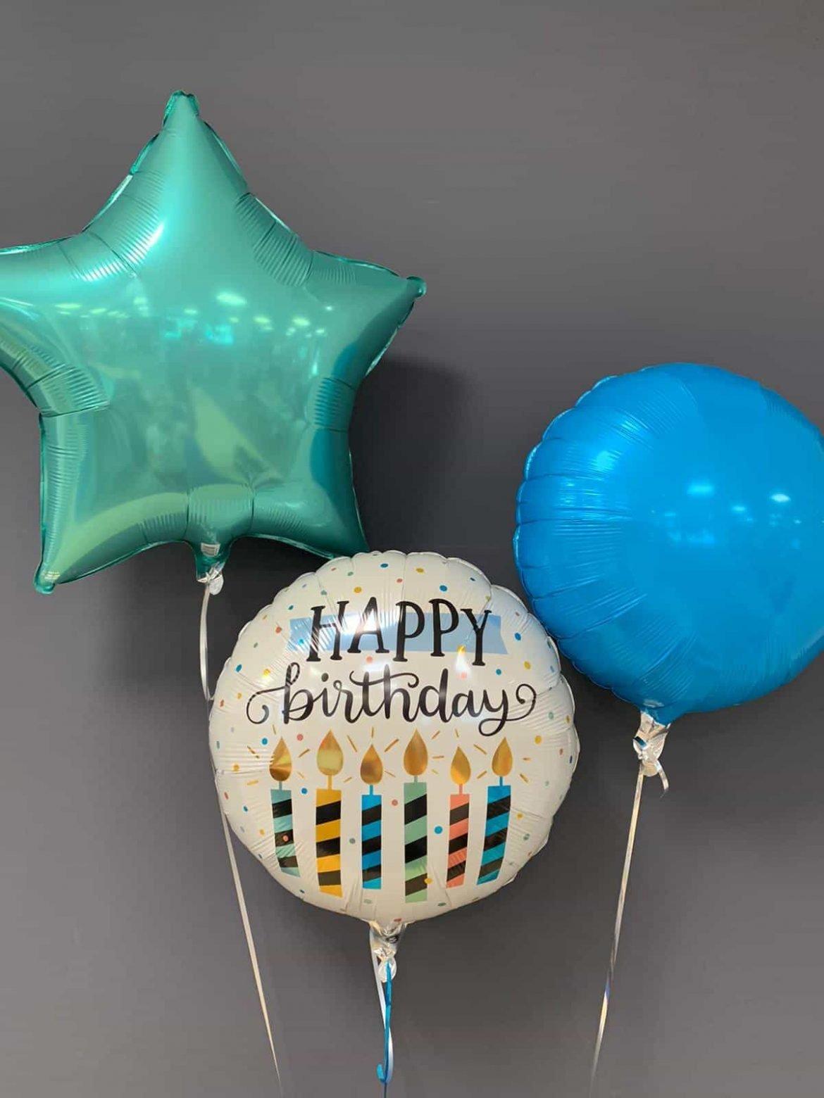 Happy Birthday €5,50<br />Dekoballons farbig €4,50 1
