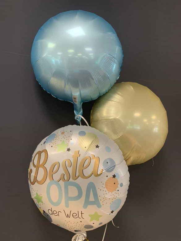 "Heliumballon ""Bester Opa"" € 5,90 mit Dekoballons je € 4,50 243"