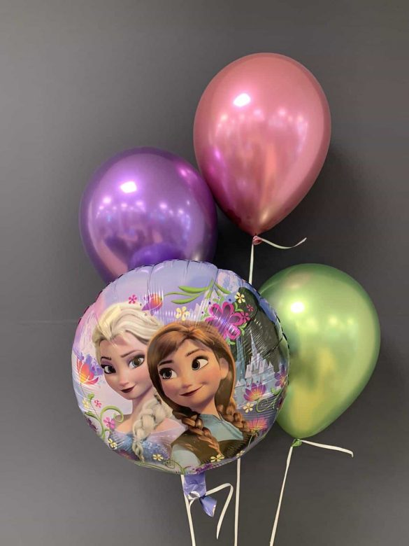 Frozen Heliumballon € 5,50<br />Latexballons chrome € 2,20 219