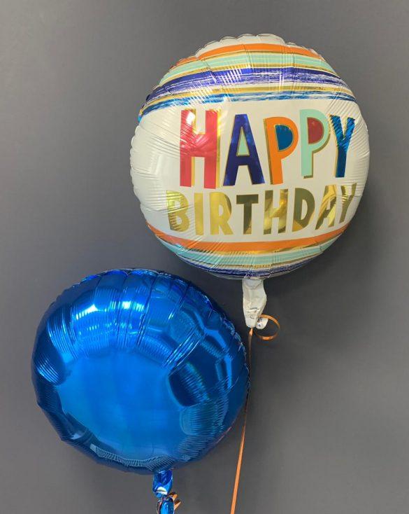 Geburtstagsballon €5,50<br />blauer Dekoballon €4,50 200