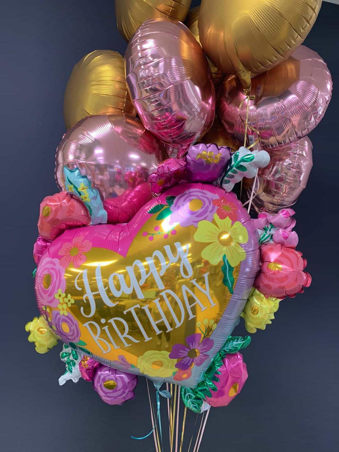 Happy Birthday Herz €8,90<br />Dekoballons €4,50 1