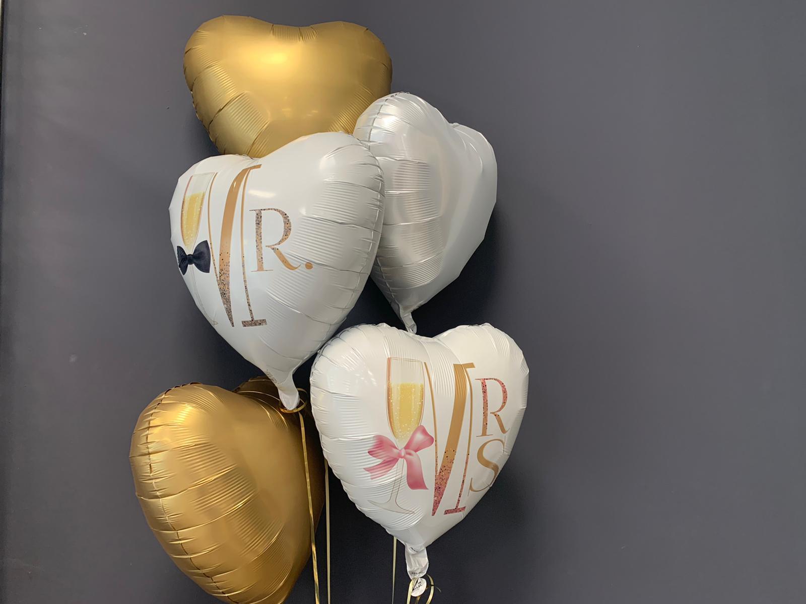 10 Ballons Hochzeit Brautpaar MR MRS weiß neu Wedding LATEX BALLONS JUST MARRIED