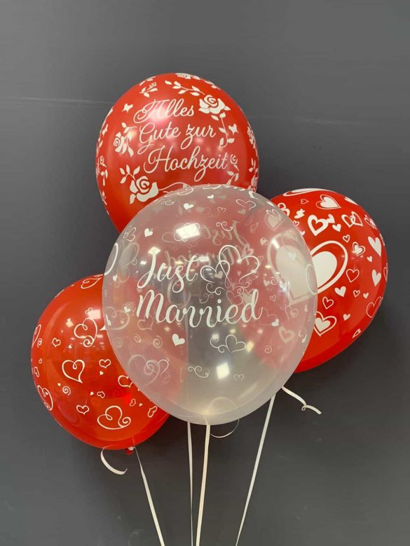 Just Married Latexballons je € 2,20 223