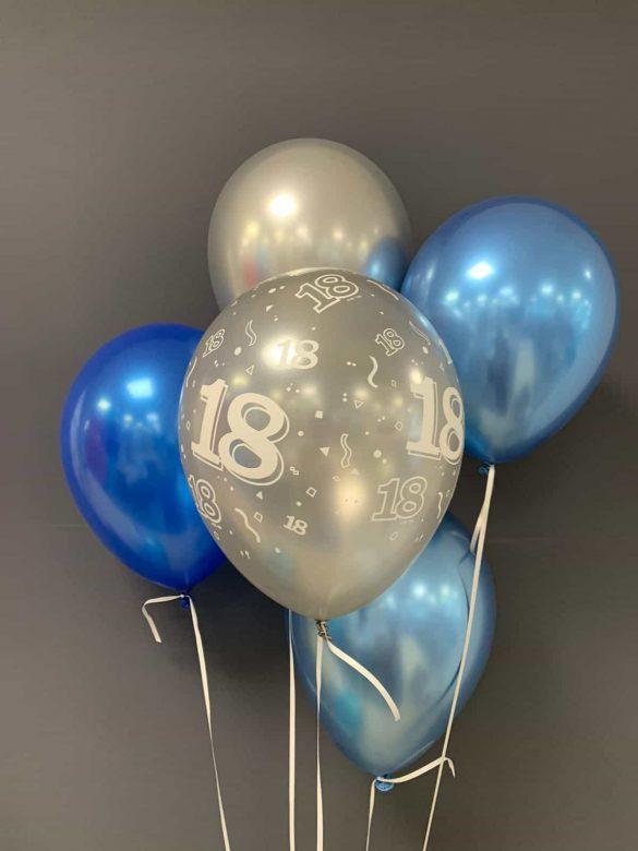 Latexballons chrome €2,20<br />zum Geburtstag 154