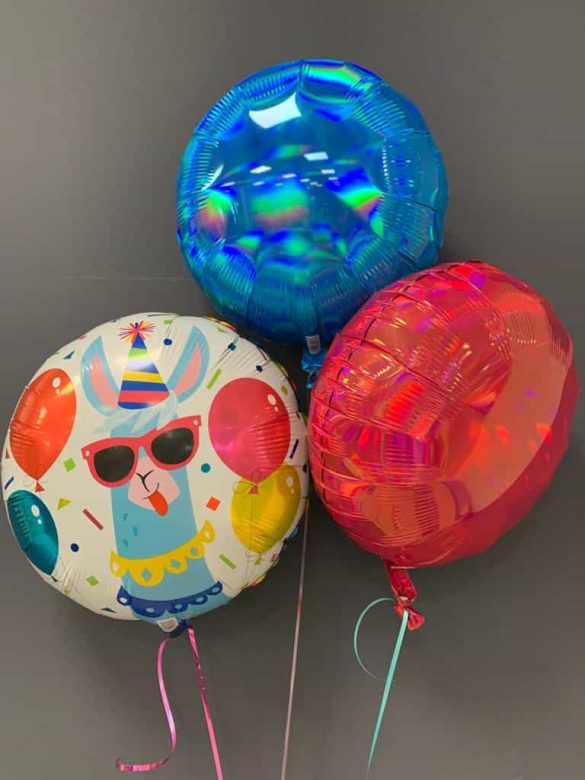 Heliumballon Party-Lama € 5,50 mit Dekoballons € 4,50 234