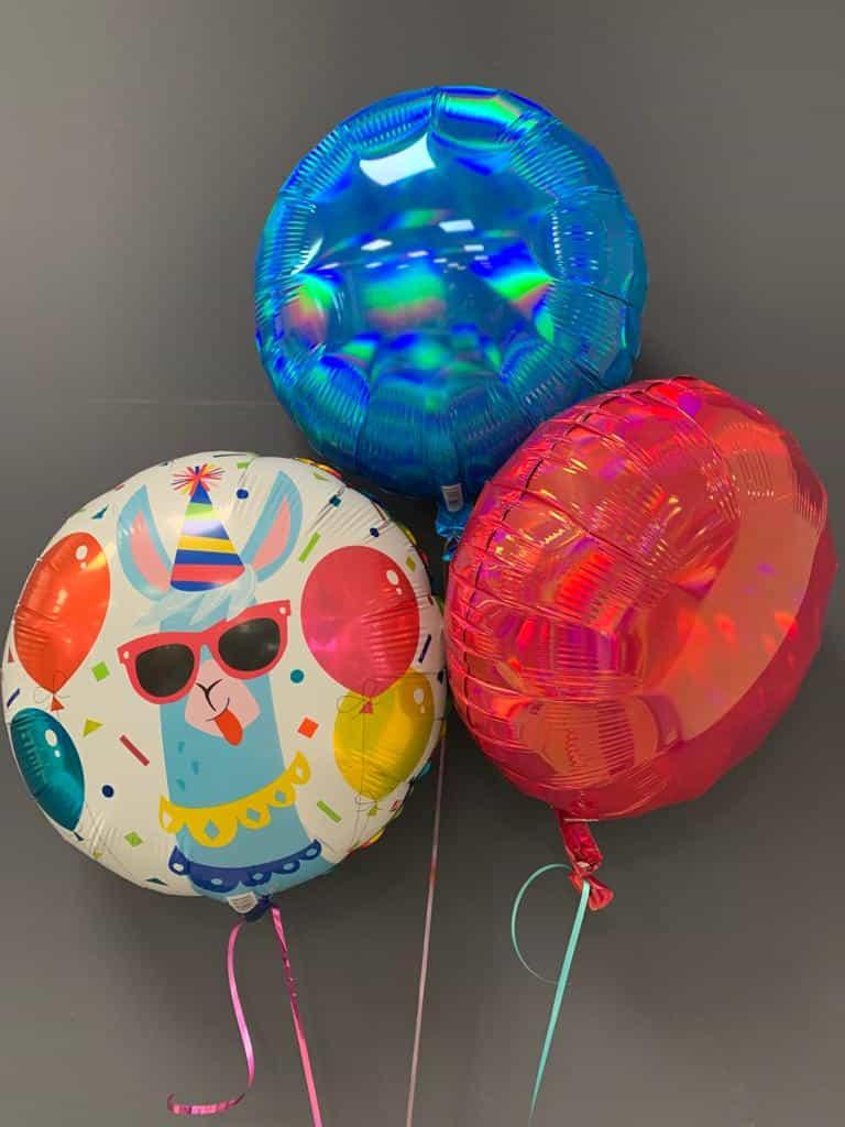 Heliumballon Party-Lama € 5,50 mit Dekoballons € 4,50 1