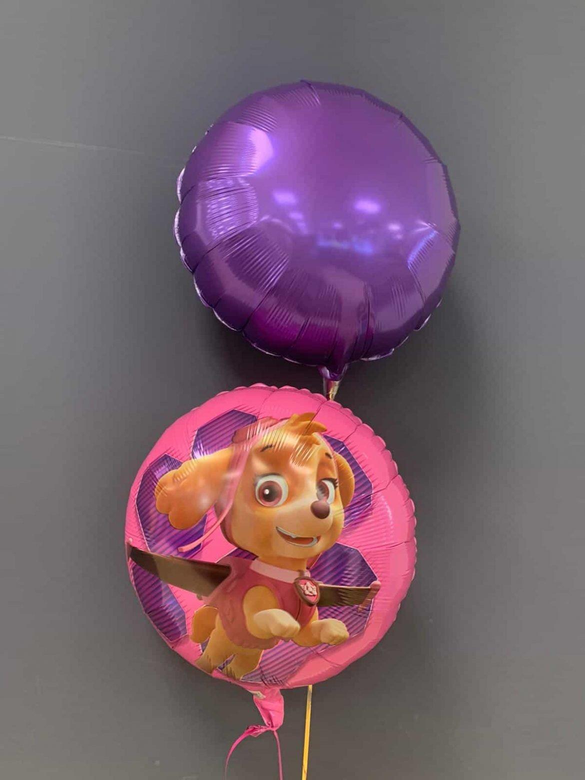 Paw Patrol Ballon € 5,50 und Dekoballon lila € 4,50 1