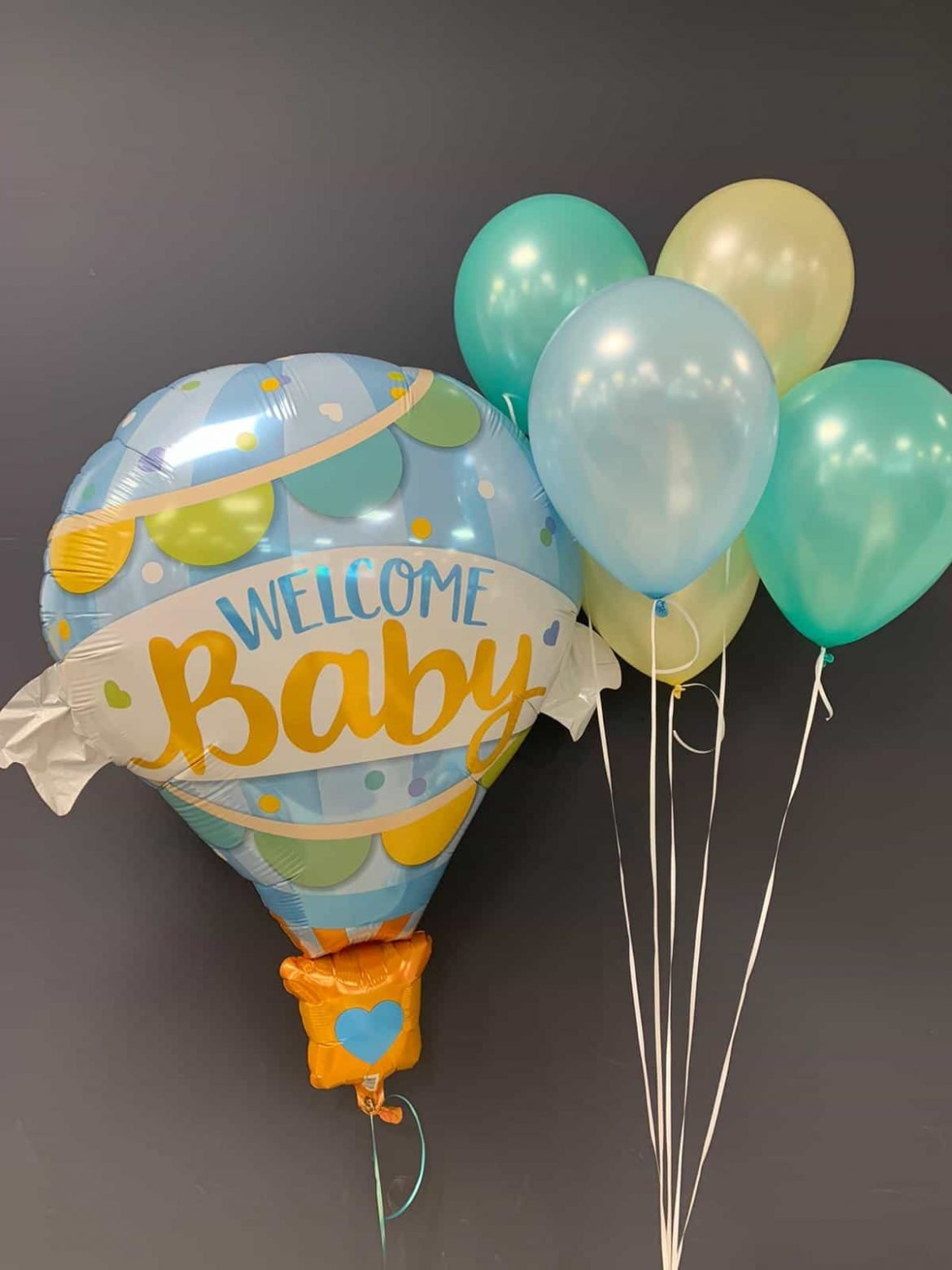Welcome Baby € 9,90<br />Latexballons je € 1,95 1