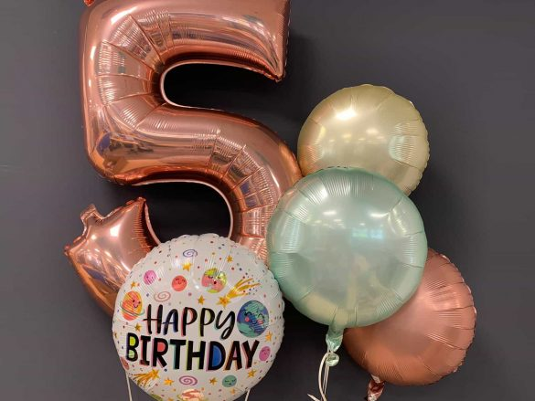 Zahlenballon 5 € 9,90<br />Happy Birthday € 5,50<br />Dekoballons € 4,50 270