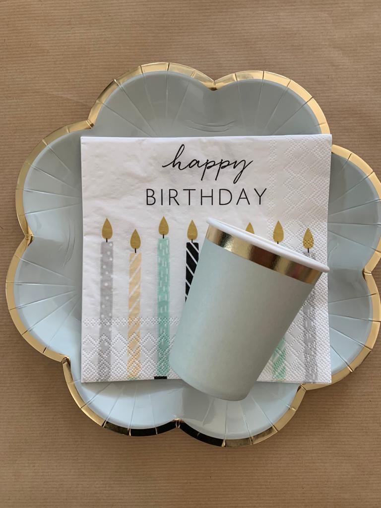 Party-Geschirr Happy Birthday 1