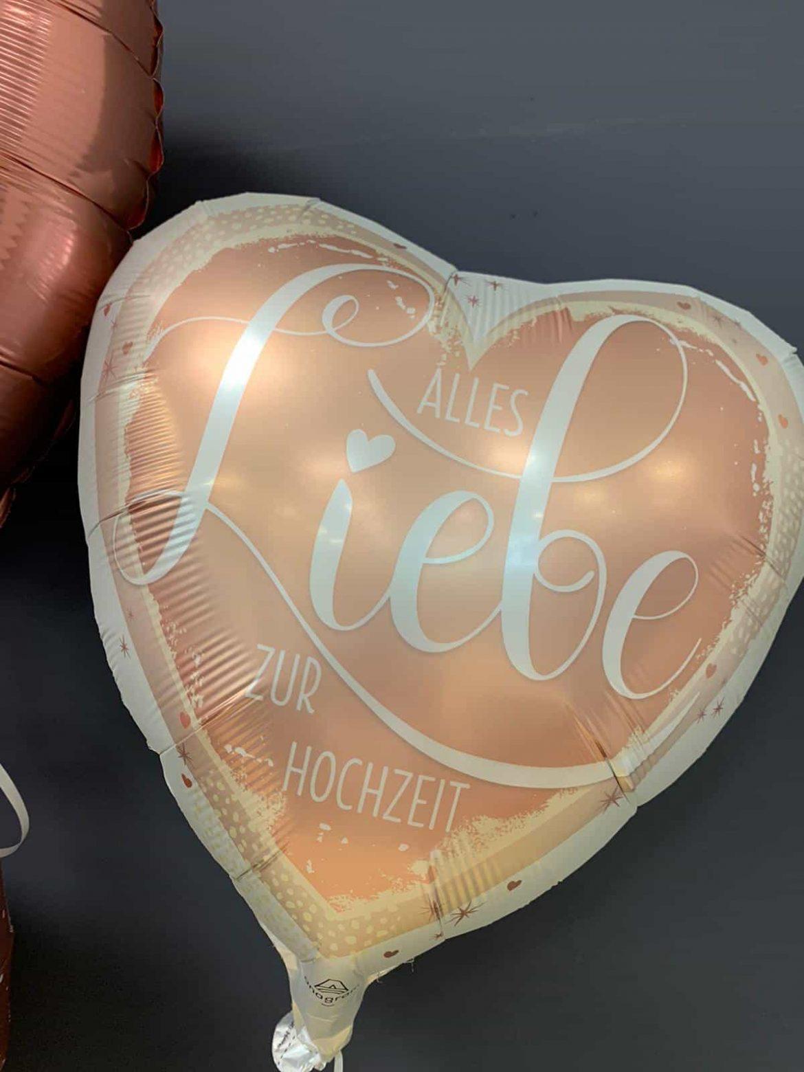 Alles Liebe zur Hochzeit<br />Folien-Ballon € 5,90 1
