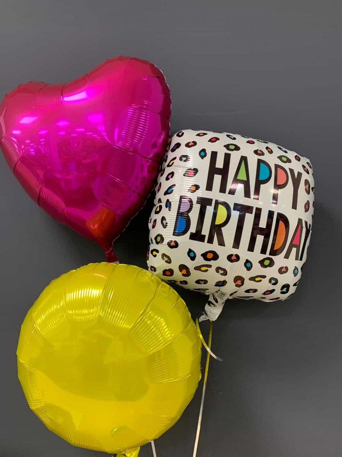 Happy Birthday eckig € 5,50<br />Dekoballons € 4,50 1