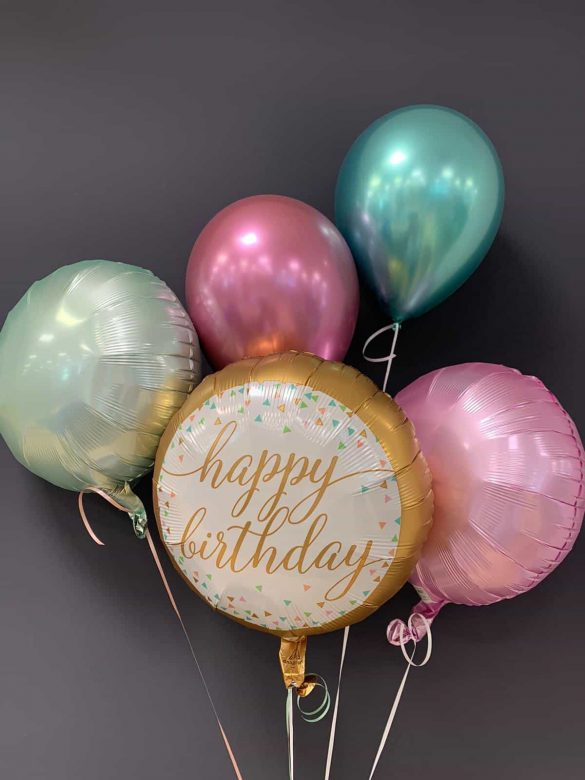 Happy Birthday € 5,50 <br />Dekoballons Folie € 4,50 <br />Chrome Latex € 2,30 142