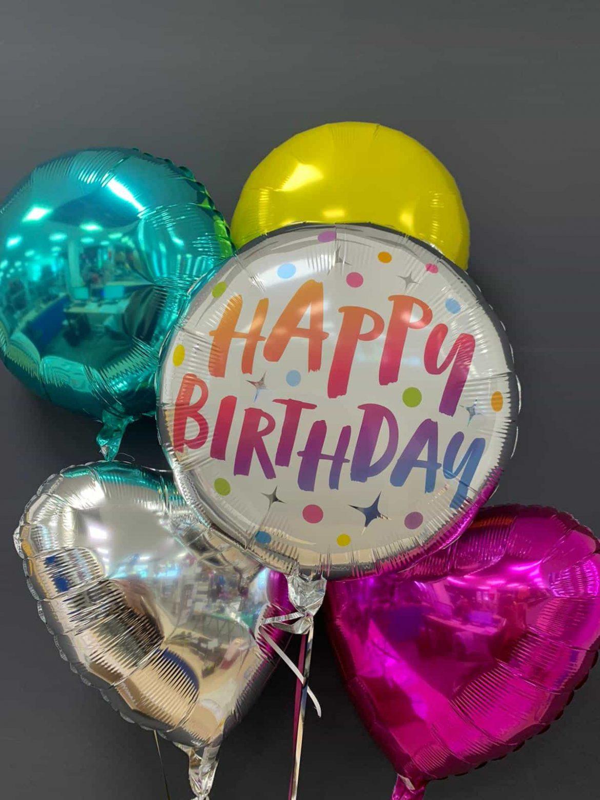Happy Birthday € 5,50 <br />Dekoballons € 4,50 1