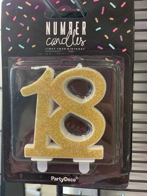 Kerze 18 für Kuchen €1,90 61