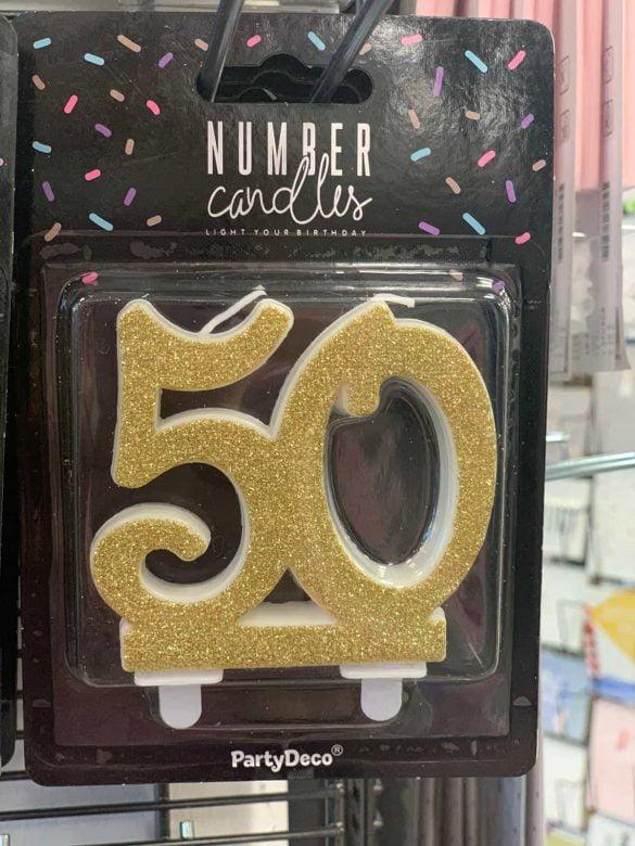 Kerze 50 für Kuchen € 1,90 63