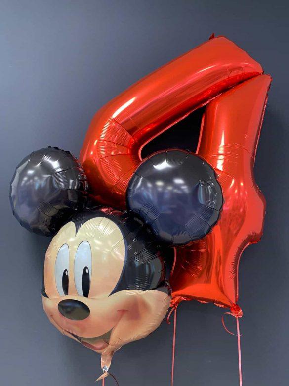 Mickey Maus € 8,90<br />Zahlenballon 4 € 9,90 11