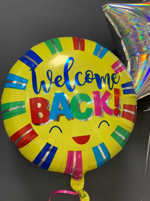Welcome Back €5,50<br />Ballon mit Heliumfüllung 23