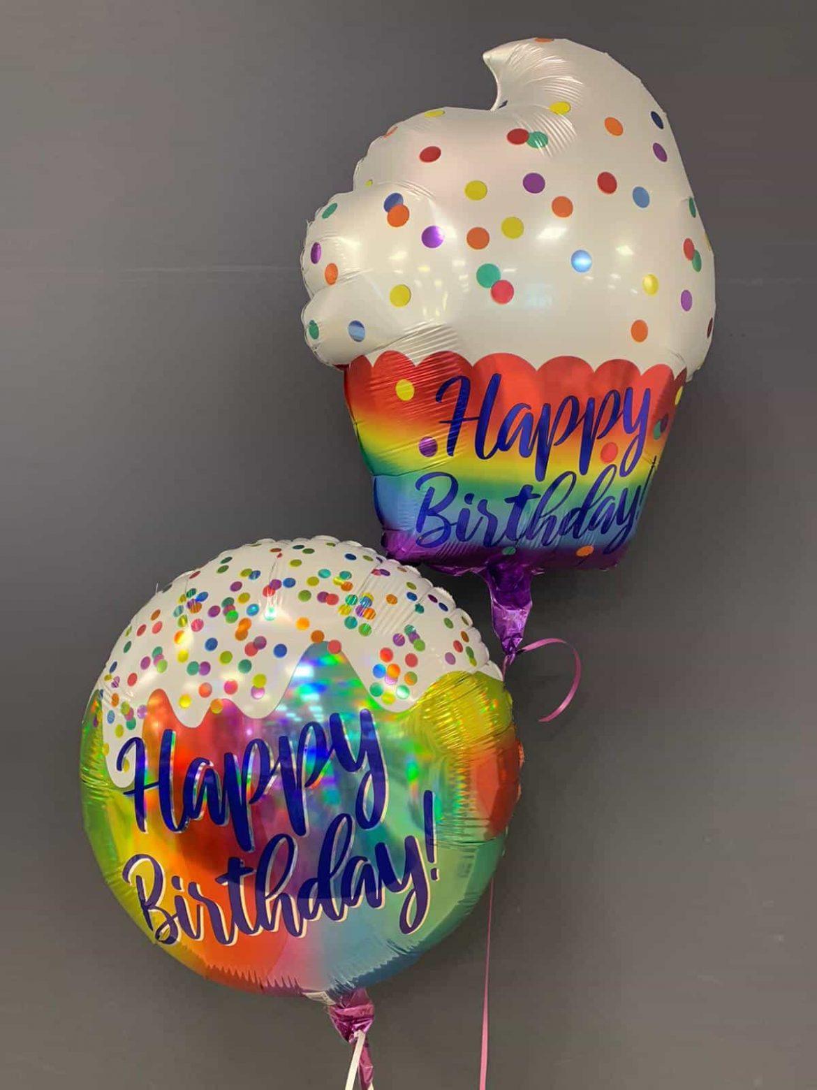 Happy Birthday<br>Cupcake € 5,90<br>runder Ballon € 5,50 1