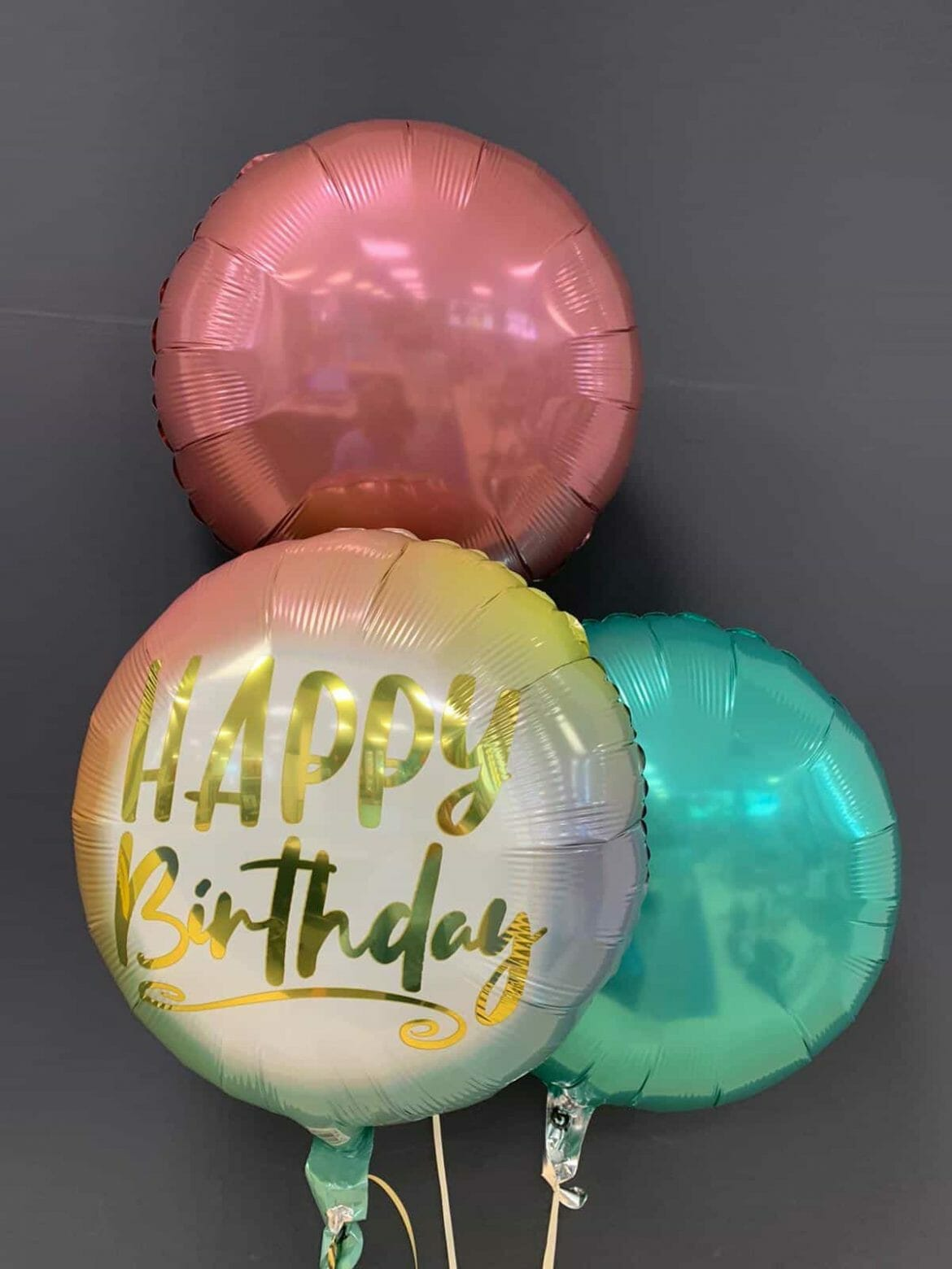 Happy Birthday € 5,50 <br> Dekoballons je € 4,50 1