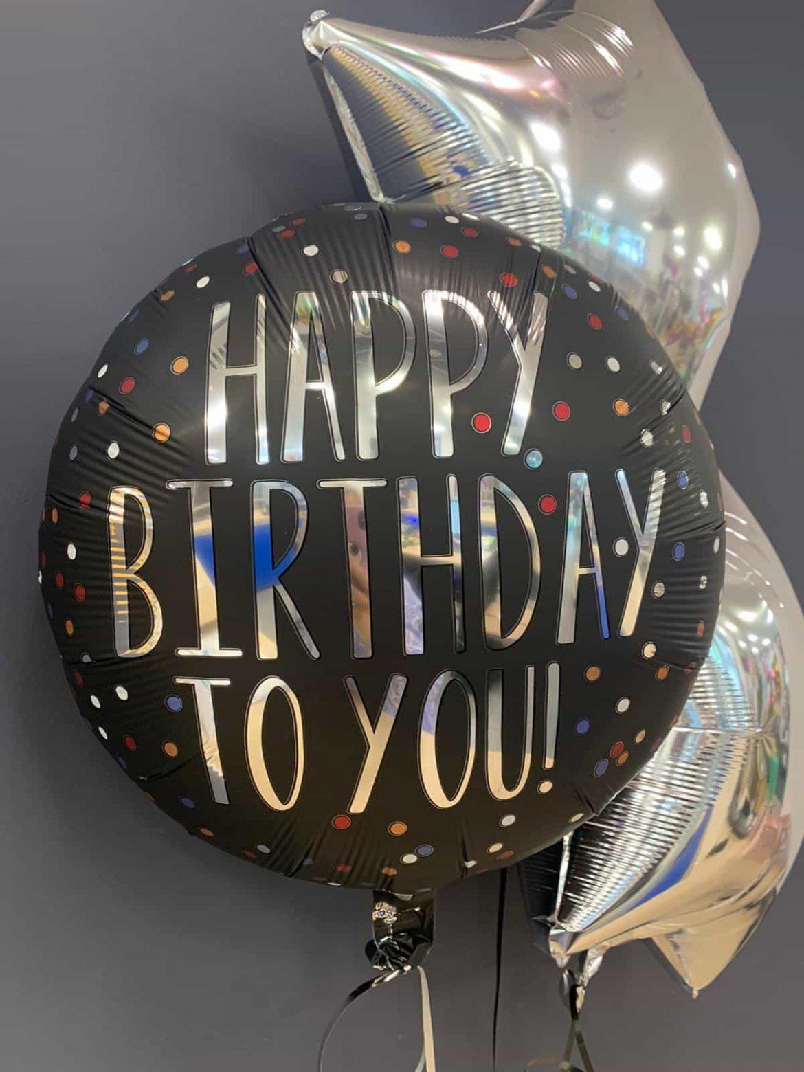 Happy Birthday Ballon zum Geburtstag