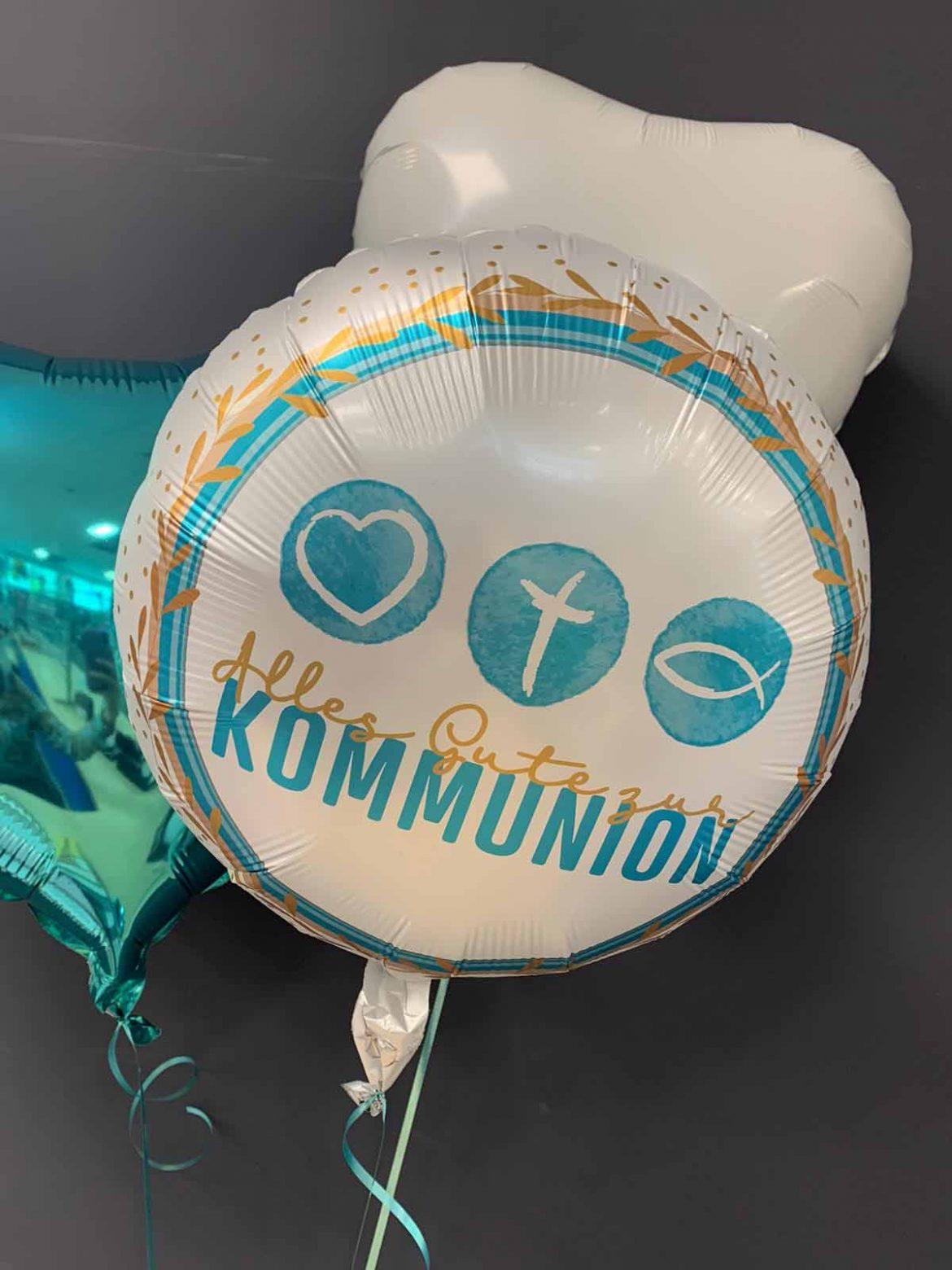 Kommunion Ballon € 5,90 <br>Dekoballons € 4,50 1