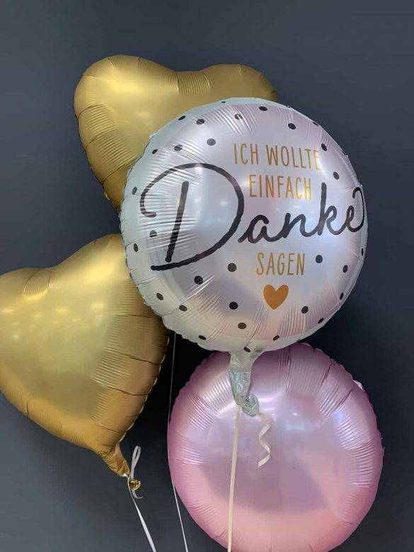 Danke Ballon € 5,90 <br> Dekoballons je € 4,50 4