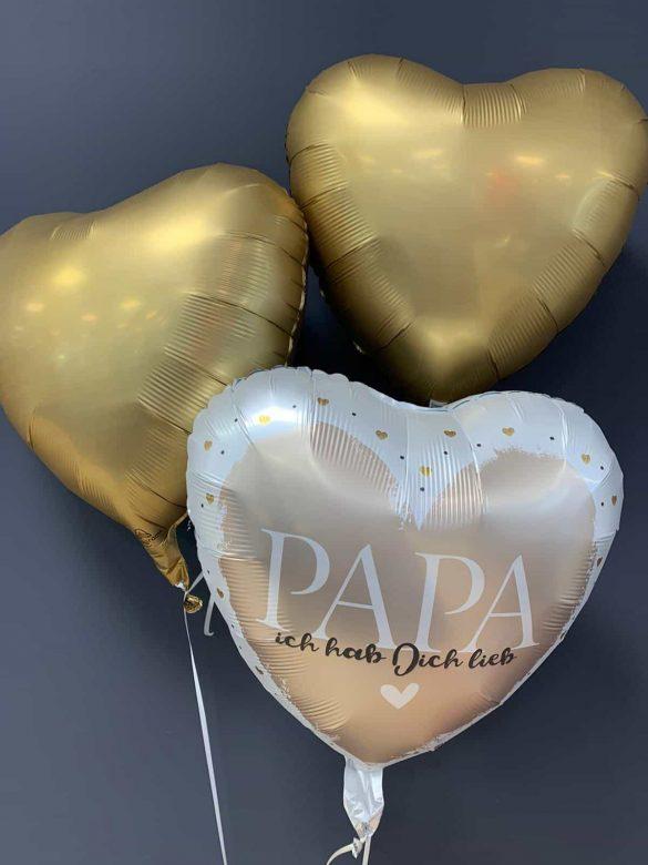 Ballon Papa € 5,90 <br> Dekoballons gold € 4,50 4