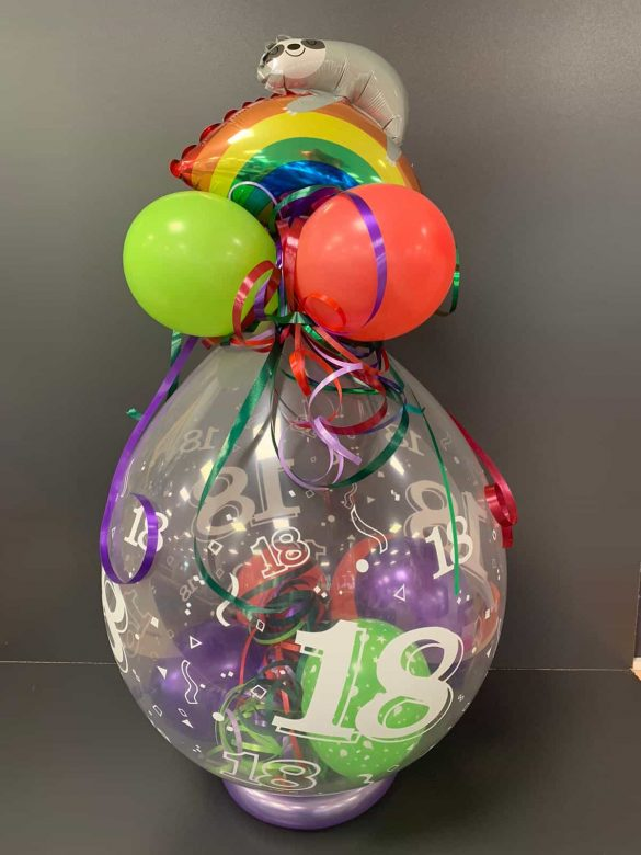 18. Geburtstag Ballongeschenk 50