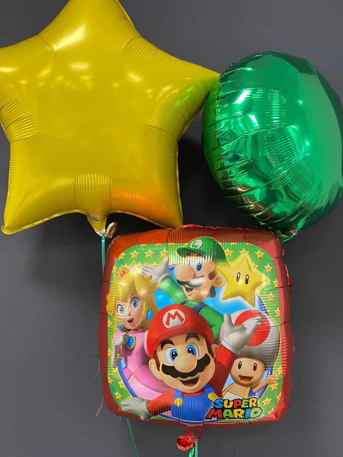 Super Mario € 5,50<br> Dekoballons je € 4,50 1
