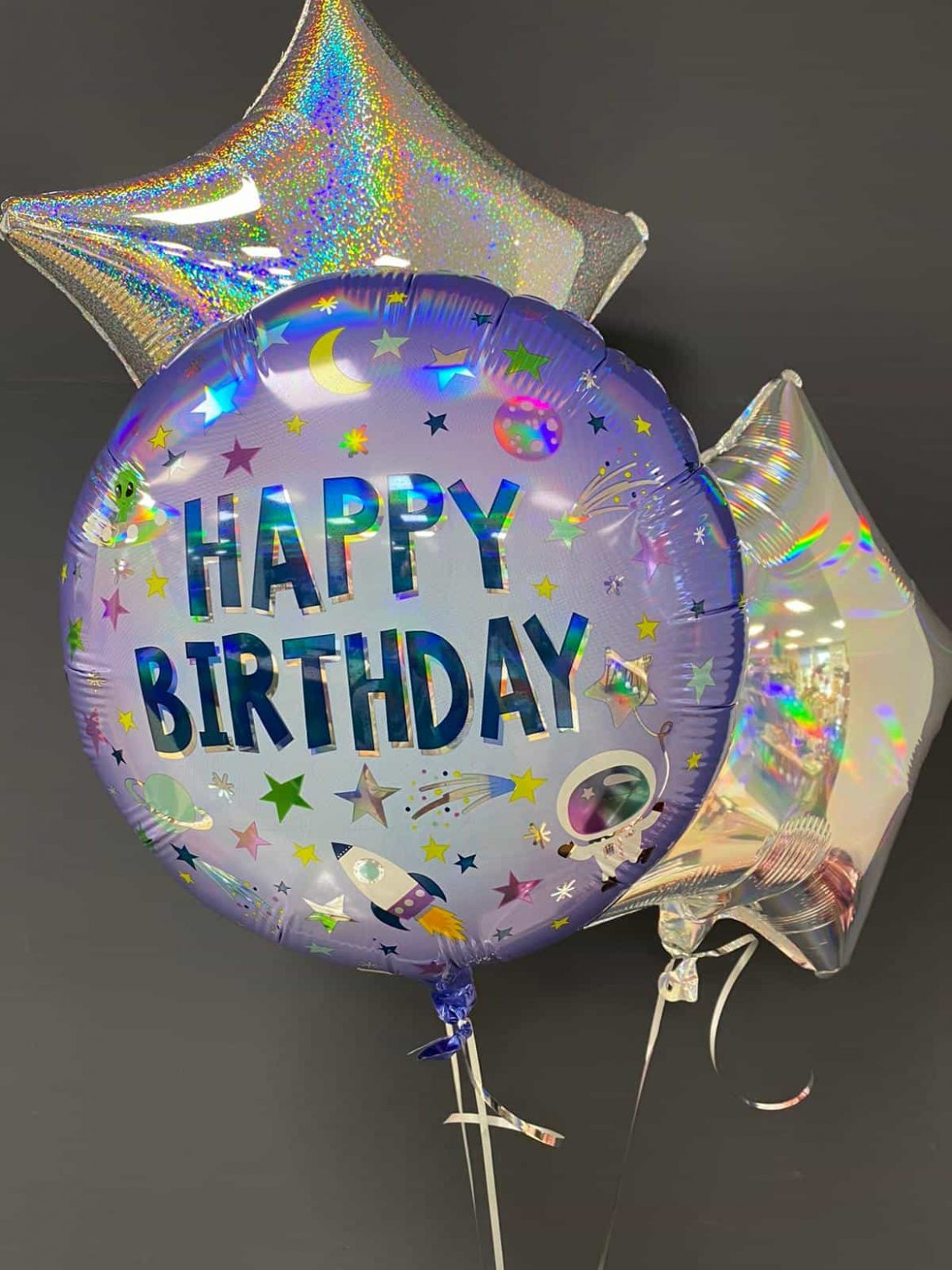 Happy Birthday € 5,50<br> Dekoballons je € 4,50 1