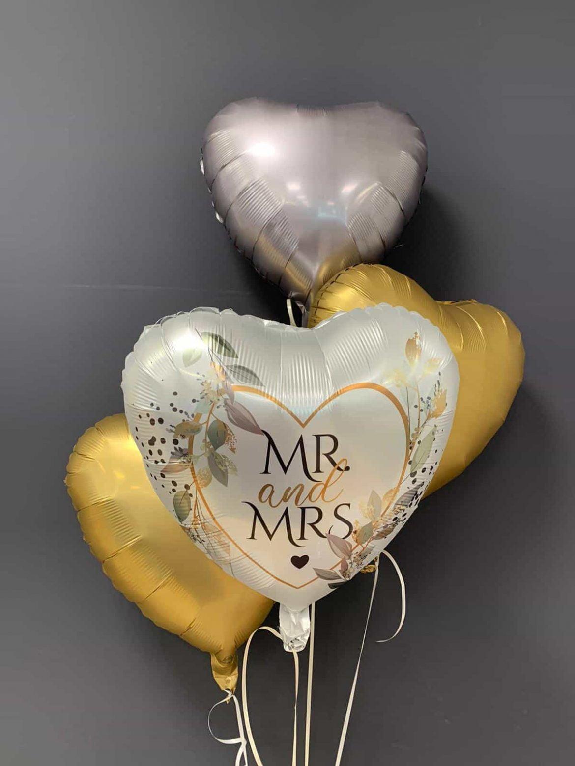 Zur Hochzeit<br>Mr & Mrs € 5,90<br>Dekoballons €4,50 1