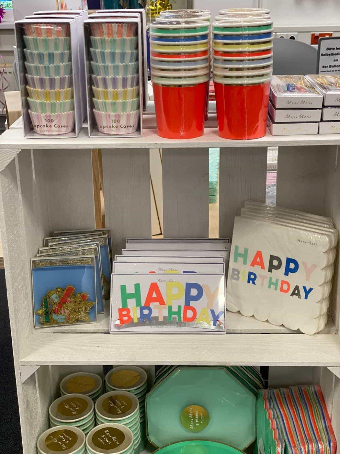 Dekoration zum Geburtstag
