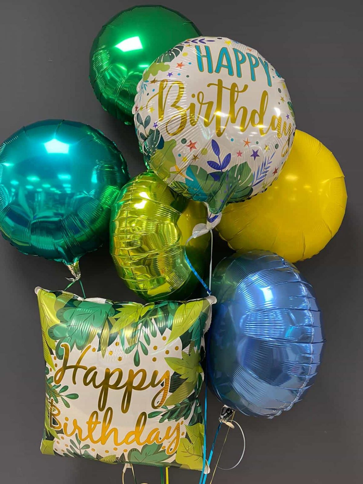 Happy Birthday eckig <br> Happy Birthday rund <br> je nur  € 5,50 <br> Dekoballons € 4,50 1