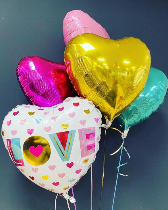 Ballon LOVE € 5,50<br> Dekoballons € 4,50 2