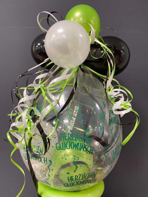 Geschenkballon grün 3